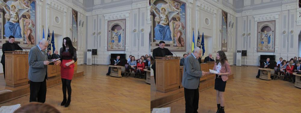 Вручення дипломів спеціалістам в залі Вченої Ради
